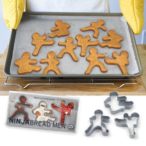 Fred NINJABREAD MEN Cookie Cutters, Set of 3