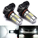 SEALIGHT 9006/HB4 LED Fog Lights Bulbs, DOT Approved, Xenon White 6000K, 27 SMD, 1 Yr Warranty (Pack of 2)