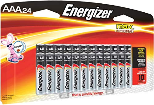 Energizer AAA Batteries (24 Count), Triple A Max Alkaline Battery - Packaging May Vary (Main 6 Cell Battery)