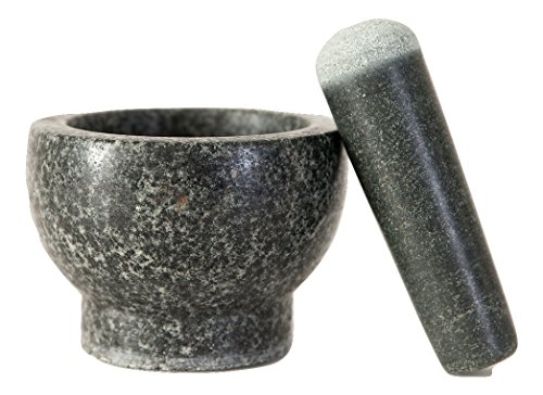 Elm Cove LARGE Mortar and Pestle Set – Spice Grinder - Made of Solid Granite Stone – 6 Inch Pestle - 2 Cup Capacity - Perfect Gift for any Chef or Foodie