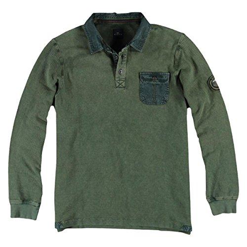 engbers Herren Poloshirt Langarm, 24641, Grün
