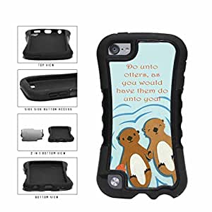 The Golden Rule With Otters Dual Layer Phone Case Back Cover Apple iPod Touch 5th Generation includes BleuReign(TM) Cloth and Warranty Label