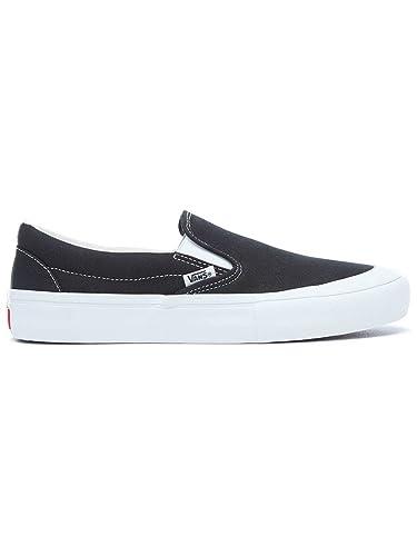 Zapatillas Vans - Slip-On Pro (Toe-Cap) Negro/Blanco Talla: 45: Amazon.es: Zapatos y complementos