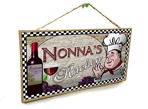 Blackwater Trading Nonna's Kitchen Italian Fat Chef Style Sign Plaque 5