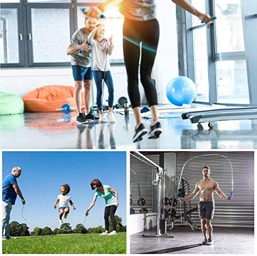 hi stone Jump Rope, Digital Weight Calories Time Setting Jump Rope with Counter for Indoor and Outdoor Exercise Adjustable Skipping Rope Workout for Men,Women,Kids, Girls 7