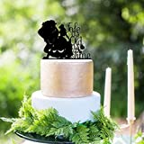 Beauty And Her Beast Tale As Old As Time On Side Wedding Cake Topper Engagement Cake