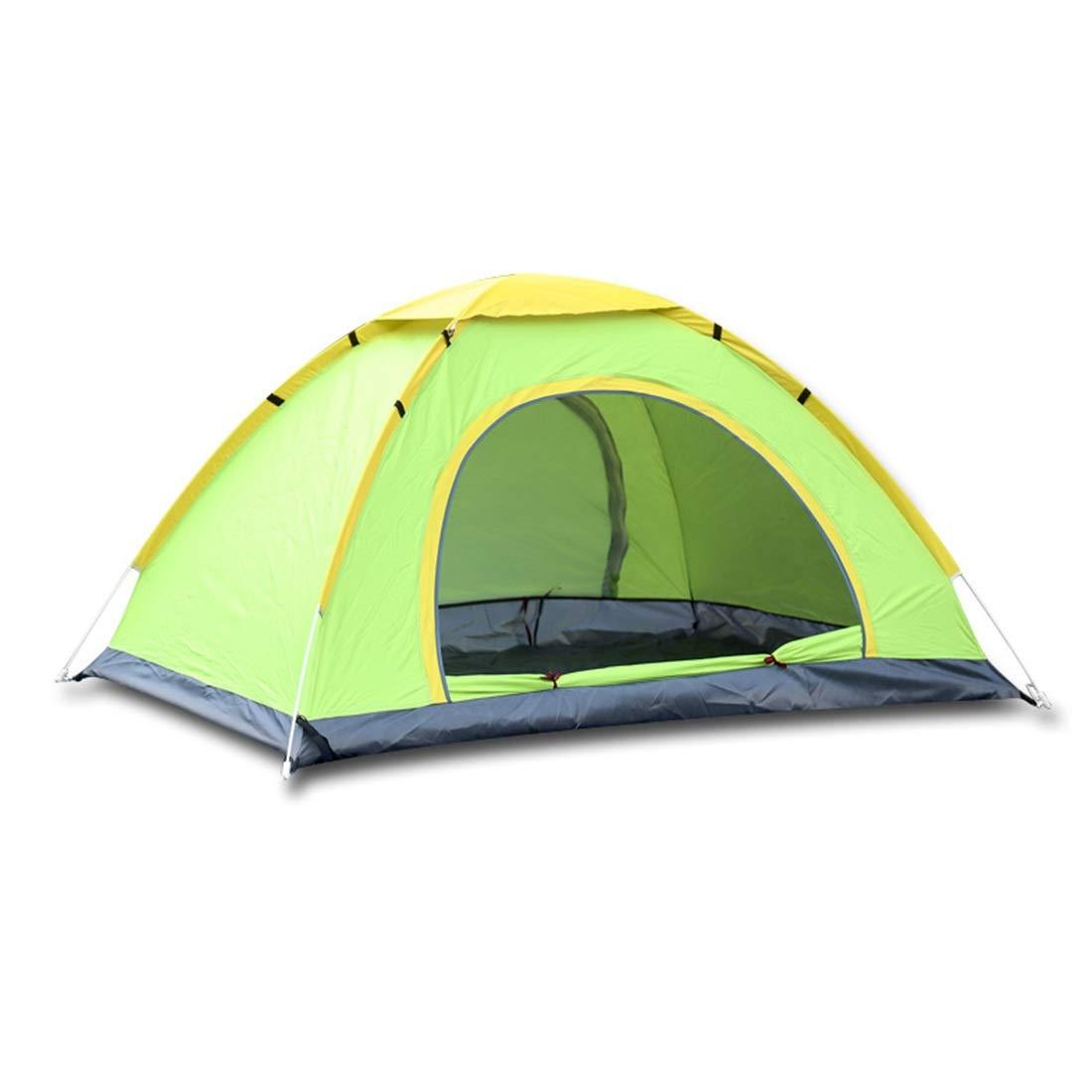 vert Two person Igspfbjn 2 Personnes et 3 Personnes Tente Camping en Plein air randonnée Tente de Prougeection UV (Couleur   vert, Taille   Three Person)