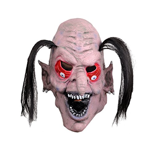 Funny Hairstyle Latex Halloween Masks Props Scary For