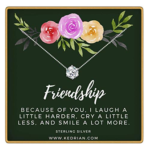 KEDRIAN Friendship Necklace, 925 Sterling Silver, Best Friend Necklaces, Friendship Gifts for Women, Bestfriend Birthday Gift, Friend Gifts, Gifts for Friends, Friend Gifts for Women