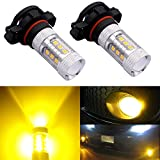 5202 amber led fog light bulbs - DunGu 5202 PS24W H16 LED Fog Lights Bulbs Daytime Running Light Replacement For GMC Chevy Nissan Vehicles Golden Yellow 4150312 (Pack of 2) …