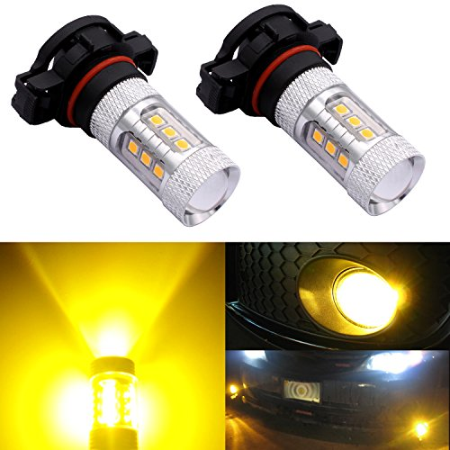 DunGu 2504 PSX24W LED Fog Light Bulb DRLs Replacements Error Free Projector Gold Yellow Pack of 2 …