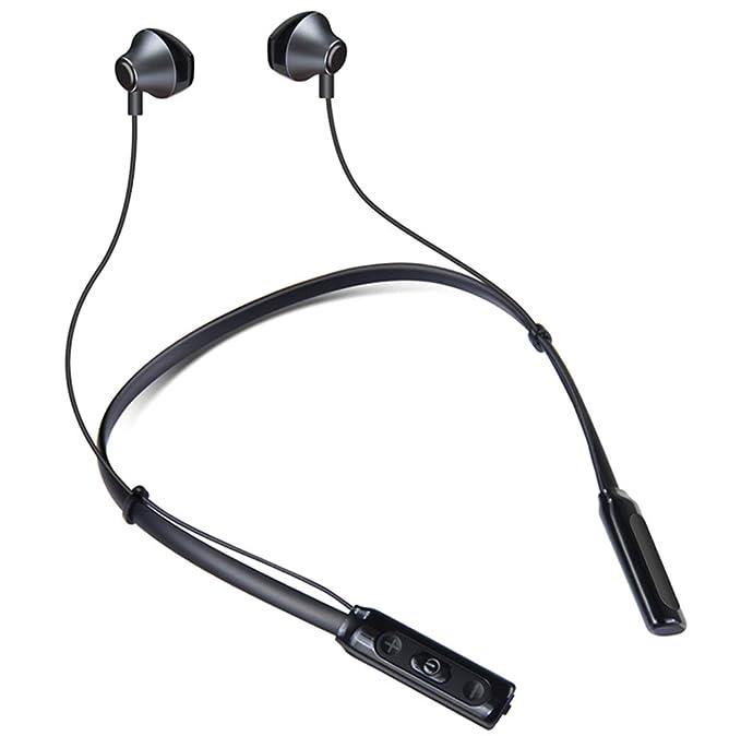 G.Ratio Bluetooth イヤホン インナーイヤー 開放型 オープン型 スポーツ 防水 高音質 ワイヤレス ネックバンド型 CVC6.0 マイク ハンズフリー 通話 ブルートゥース ヘッドホン 10時間 連続使用 (180mAh バッテリー搭載) SM818