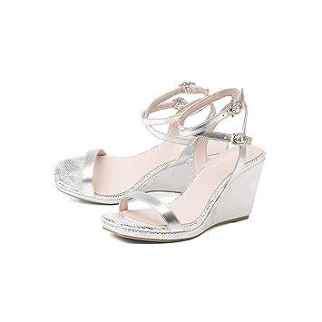 Tacón Eeayyygch Mujer América Alto Europa Zapatos Y Gruesa Con De qUzVpSM
