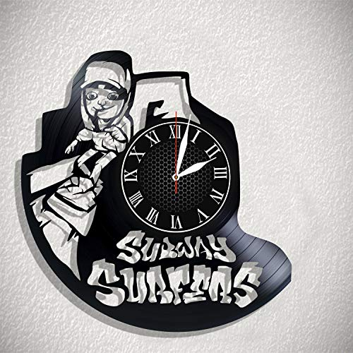 BombStudio Subway Surfers Vinyl Record Wall Clock, Subway Surfers Handmade for Kitchen, Office, Bedroom. Subway Surfers Ideal Wall Poster]()