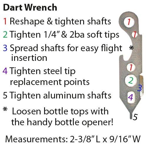 Set of Twelve 2ba 14gm Soft Tip Darts, 100 Black Dart Tips, & Dart Wrench