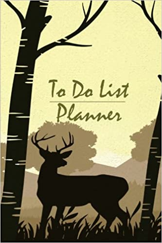 To Do list planner: Reindeer-trees-silhouettes design Planner Journal Schedule Diary To do list, School Home Office Size 6x9 Inch, Weekly Goals and ... Planner, Perfect To-do list: Volume 8