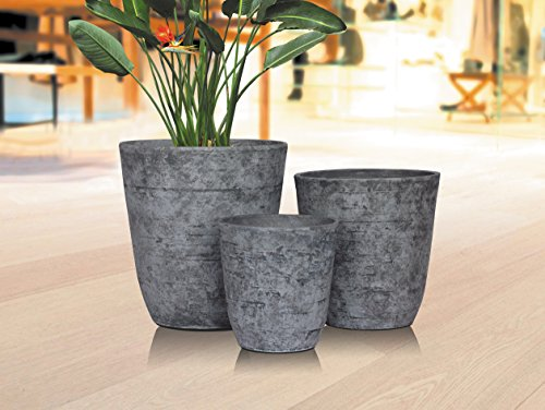 Stone Light Antique AT Series Cast Stone Planter (Pack of 6), 11 by 11.5'', Sandal Wood by Stone Light (Image #1)