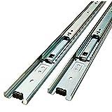 Bline High Quality Full Extension Drawer Slide 100-Pound Capacity Side Mount, Pair … (16'' (400mm))