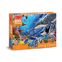 Melissa & Doug Living Ocean Underwater Sea Animals Jigsaw Puzzle (200 pcs)