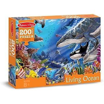 Melissa & Doug Living Ocean Underwater Sea Animals Jigsaw Puzzle (200 pcs)