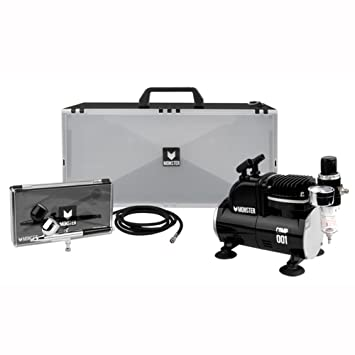 MONSTER Mini Airbrush Compressor (Mini Compressor + Air Brush + Spray Booth) Full Package