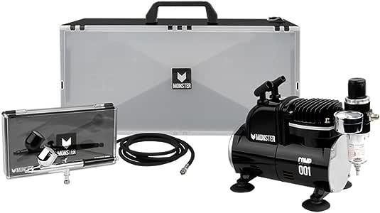 Monster Mini aerógrafo Compresor (Mini Compresor + Air Brush + ...