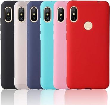 OUREIDOO 6X Funda para Xiaomi Redmi Note 6 Pro, Carcasa Suave Mate ...