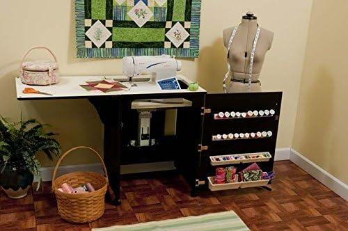 Mueble para máquina de coser- Sewnatra en Negro: Amazon.es ...