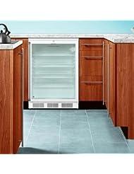 Summit SCR600LBISH Beverage Refrigerator, Glass/White