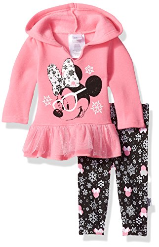 : Disney Baby Girls' Minnie Mouse 2 Piece Hooded Top and Legging Set