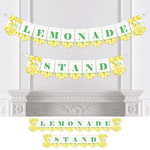 (Big Dot of Happiness So Fresh - Lemon - Custom Citrus Lemonade Party Bunting Banner & Decorations - Lemonade Stand Custom Banner)