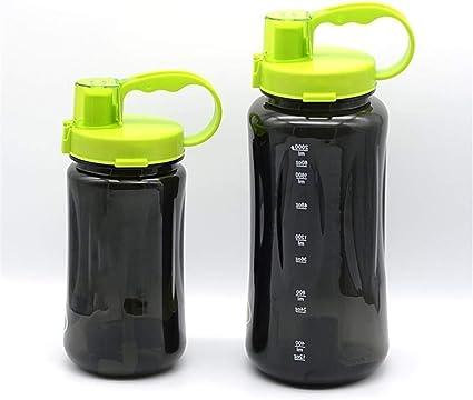 JZG 1L / 2L Botella De Agua De Gran Tamaño Negro 1000 Ml ...