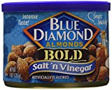 Blue Diamond Salt & Vinegar Almonds, Bold Tins, 6 oz