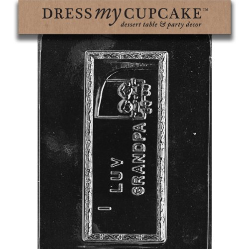 Dress My Cupcake DMCG008SET Chocolate Candy Mold, I Luv Grandpa, Set of 6
