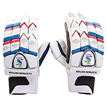 ISports Cricket Batting Gloves Platinum Edition Right Hand - White, Size Youth