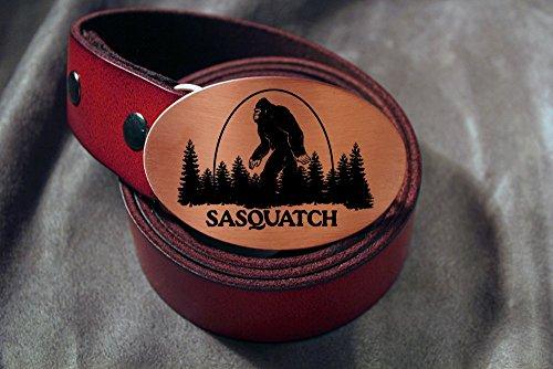Bigfoot SASQUATCH Etched Metal Belt Buckle