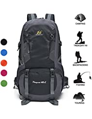 Women & Men Lightweight Hiking Backpack Daypack 40L Water Resistant Outdoor Travel Sport Camping Backpack