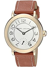 Women's 'Riley' Quartz Stainless Steel and Leather Casual Watch, Color:Brown (Model: MJ1574)