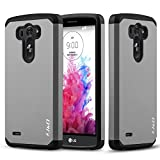 LG G3 CASE, J&D [Slim Armor] LG G3 Case Rugged Heavy Duty Protective Case for LG G3 - Grey
