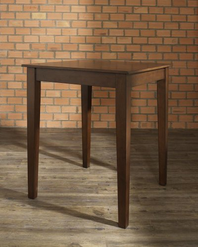 Crosley Tapered Leg Pub Table, Vintage Mahogany Finish