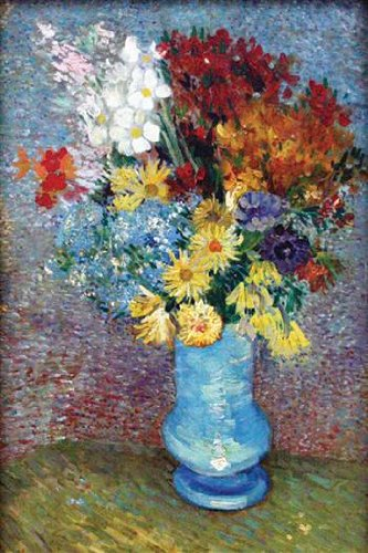 (Walls 360 Peel & Stick Wall Decal: Flowers in A Blue Vase by Vincent Van Gogh (8 in x 12 in))