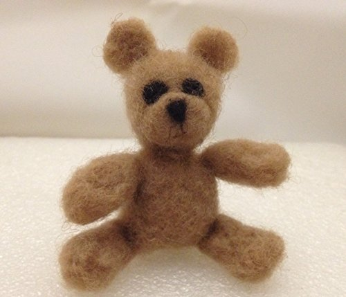 Needle Felted Bear (Needle Felted Teddy Bear OOAK Wool Camel Felt Doll Miniature)