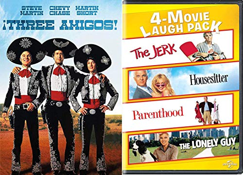 The Blast 4 Steve Martin Comedy Collection: The Jerk / Housesitter / Parenthood / Lonely Guy + Three Amigoes Chevy Chase Martin Short Laugh Pack DVD Movie Bundle Feature