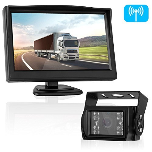 Digital Wireless Backup Camera System for Car/SUV/Pickup/Truck/RV/5th Wheel/Trailers with 5'' Monitor Rear/Side/Front View...