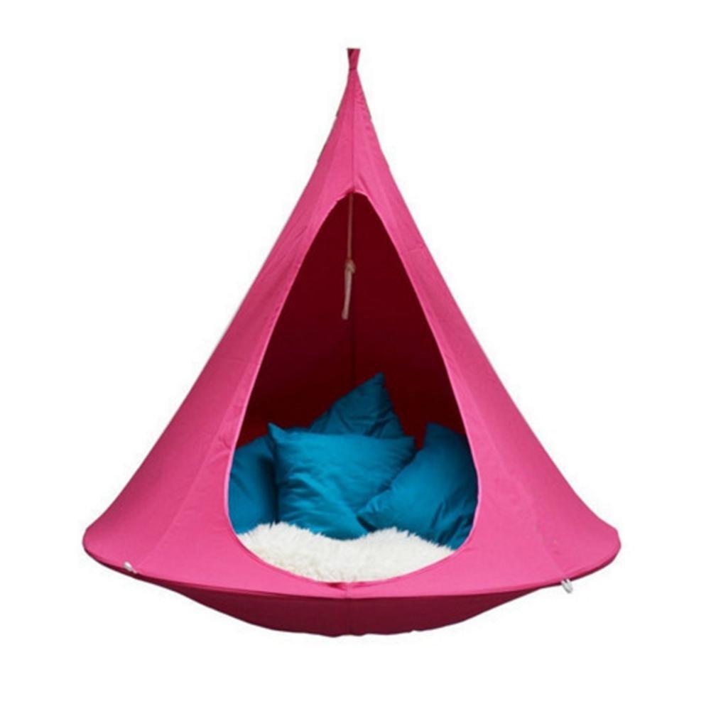 ハンギングチェア 2 人布テント屋外サスペンションマックスです。 200 キロ B07C1FZ217 180 cm × 150 cm ピンク ピンク 180 cm × 150 cm
