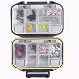 Search : 12 Compartments Fishing Tackle Box ,  Waterproof Portable ABS Bait Lure Case ,  Convenient Carry Mini Storage Container For Storing Swivels , Hooks , Lures , Jewelry , Electronic Components , Beads
