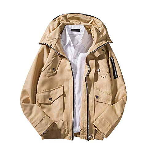 DaySeventh Fashion Men's Autumn Winter Casual Long Sleeve Hoodie Pocket Garment Jacket Coat -