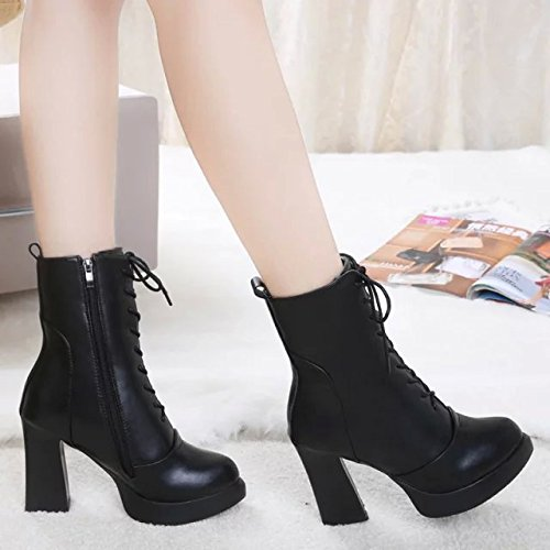 KHSKX-High Heeled Short Boots New High Heels And Short Boots In Autumn And Winter English Wind Sharp Heels And Bare Boots Women Boots Thirty-seven pXzqC6XDb