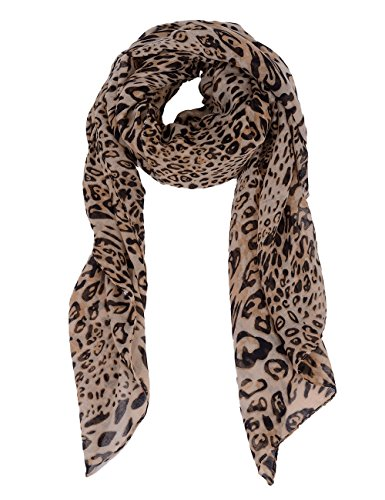 WM BEAUTY Ladies Scarves Leopard