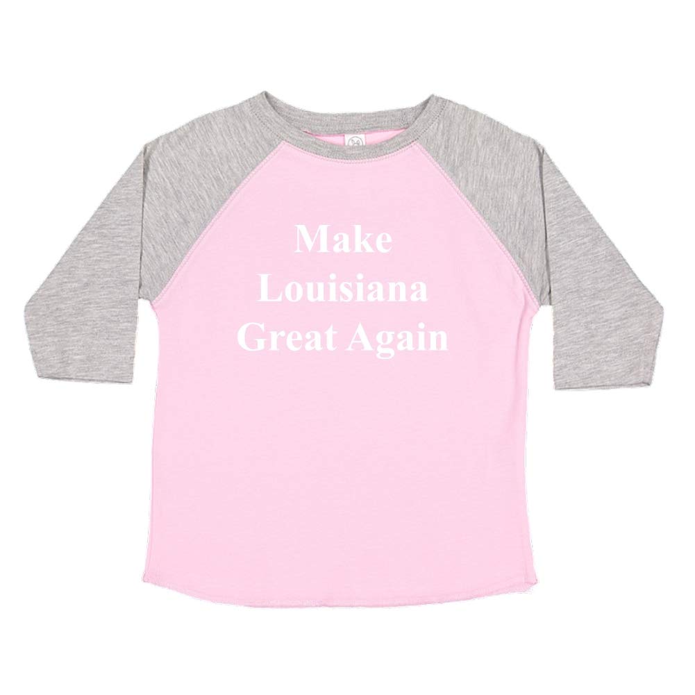 Mashed Clothing Make Louisiana Great Again MAGA Trump Republican Toddler//Kids Raglan T-Shirt
